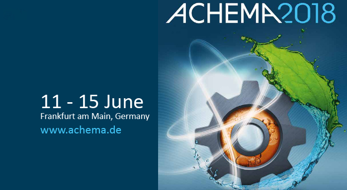 ACHEMA 2018 (Frankfurt am Main, 11th-15th June 2018)