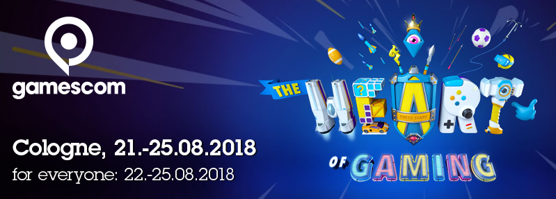 gamescom 2018 (Cologne, 21st-25th August 2018)