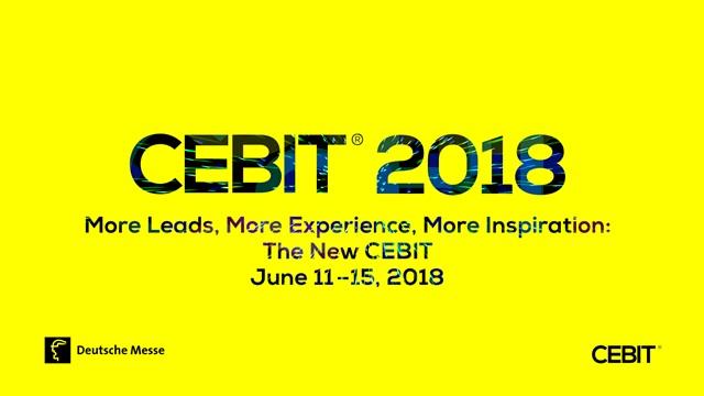 CEBIT 2018 (Hanover, 11th-15th June 2018)