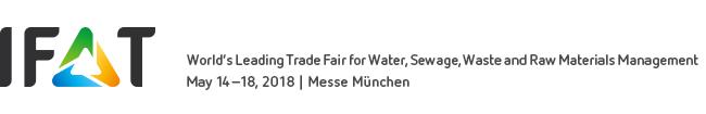 IFAT 2018 (Munich, 14th-18th May 2018)